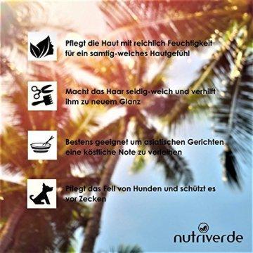 BIO Kokosöl - 1 x 1.000 mL (1L) Neu im Bügelglas - KOCHEN, BRATEN, BACKEN + HAAR- & HAUTPFLEGE bio, nativ, kaltgepresst - 3