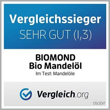 BIO Mandelöl süß BIOMOND, 250 ml / kaltgepresst / Testsieger / Nussöl / Naturkosmetik / Gourmetöl - 3