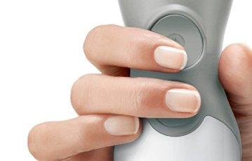 Bosch Ergonomischer MSM66110 Stabmixer mit Zubehör(600 W, edelstahl-Mixfuß) weiß/telegrau - 2