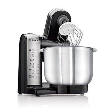 Bosch MUM48A1 Küchenmaschine (600 Watt, 3,9 Liter, Edelstahl-Rührschüssel, Durchlaufschnitzler, Rezept DVD) schwarz - 2