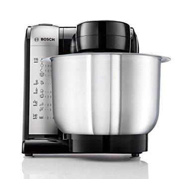 Bosch MUM48A1 Küchenmaschine (600 Watt, 3,9 Liter, Edelstahl-Rührschüssel, Durchlaufschnitzler, Rezept DVD) schwarz - 4