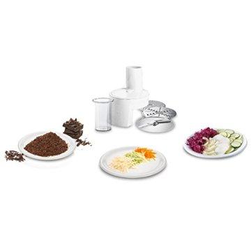 Bosch MUM48A1 Küchenmaschine (600 Watt, 3,9 Liter, Edelstahl-Rührschüssel, Durchlaufschnitzler, Rezept DVD) schwarz - 5