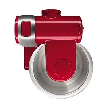 Bosch MUM48R1 Küchenmaschine MUM4 (600 Watt, 3.9 Liter, Edelstahl-Rührschüssel, Durchlaufschnitzler, Rezept DVD) rot - 3