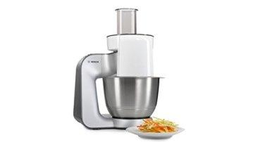 Bosch Styline MUM56340 Küchenmaschine (900 W, edelstahl-Rührschüssel, Durchlaufschnitzler, Rühr-Schlagbesen und weiteres Zubehör) silber - 5