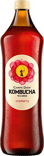 Carpe Diem - Kombucha Cranberry Teegetränk Kräutertee Glasflasche ohne Pfand - 0,75l - 1