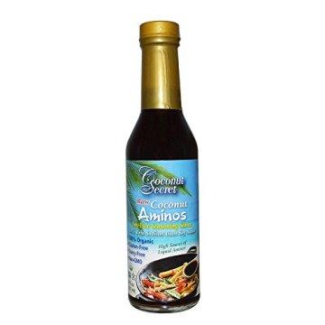 Coconut Geheimnis Raw Coconut Aminos, Soja-Free Gewürz Sauce, 8 Flüssigunzen (237 ml) 1.7 x 1.9 x 7.9 inches - 1