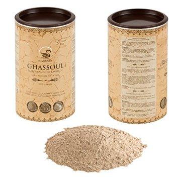 cosmundi Ghassoul Marokkanische Lavaerde 1 kg Mineralische Tonerde zur Haar-/Körperpflege und Gesichtsmaske/Peeling - 2