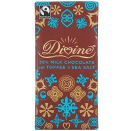 Divine Chocolate Milk Chocolate Toffee and Sea Salt (10x3.5 OZ) by Divine Chocolate - 1