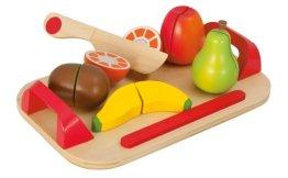 Eichhorn 100003721 - Schneidebretter, Set mit Früchten, 12-teilig - 26x16,5 cm - Schneideobst aus Holz mit Klett-Verbindung - 1