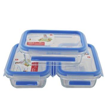 EMSA 514170 Frischhaltedose CLIP & CLOSE Glas 3er Set, 3x 0,50 Liter (100% dicht, gefriergeeignet, mikrowellengeeignet, BPA frei, Made in Germany) - 7