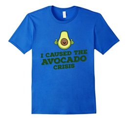 I Caused The Avocado Crisis T-shirt - Funny Paleo T-shirt Herren, Größe M Königsblau - 1
