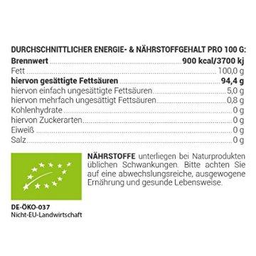 Kokosöl nativ Bio Qualität (1000ml) Hautpflege Haarpflege Kochen Braten Backen Fellpflege aus erster Kaltpressung - 6