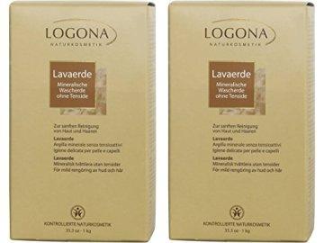 Logona Lavaerde Pulver, mineralische Wascherde, 2er Pack (2 x 1000 g) -
