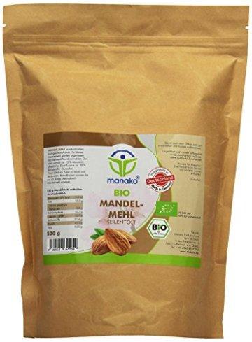 manako BIO Mandelmehl, 1er Pack (1 x 0.5 kg) - 1