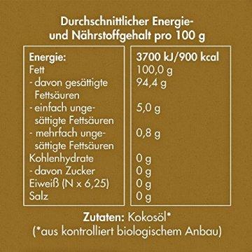 MeaVita Bio Kokosöl nativ aus erster Kaltpressung - Perfekt für Hautpflege Haarpflege und für die Küche 1L (1000ml) - 3