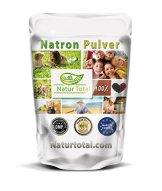 Natron Pulver - Natriumhydrogencarbonat NaHCO3 Natriumbicarbonat E500 Backsoda (1000g) - 1