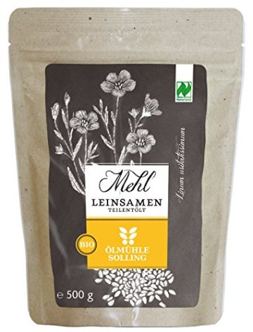 Ölmühle Solling Leinsamenmehl teilentölt, 3er Pack (3 x 500 g) -