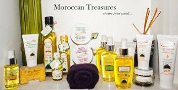 Original Ghassoul Wascherde ultra fein gemahlen mit Arganöl und ätherischen Ölen. Körperpflege, Haarpflege. Pulver für Masken und Peelings, 125g - 3