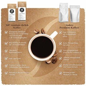 Premium Bio Kaffee preisgekrönt von 360° rundum ehrlich | Köstlich, sehr säurearm und bekömmlich | Honduras Hochland Arabica fair gehandelt | Öko-Verpackung 500g - 2