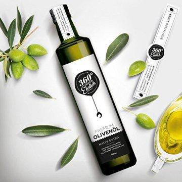 Premium Bio Olivenöl nativ extra | (Griechenland Kalamata / Sparta) von 360° rundum ehrlich | Mild, fruchtig, köstlich | Kaltgepresst, biodynamischer Anbau | Sortenreine Koroneiki-Oliven | 500ml - 3