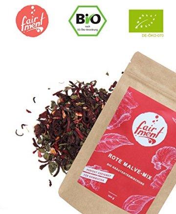 Premium Bio Teemischungen von Fairment®, für Kombucha geeignet, 100g (Hibiskusblüte) - 1
