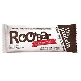 ROOBAR Protein Choc Chip + Vanille 60g Rohkost-Riegel (bio, roh, vegan) Neue Rezeptur! - 1