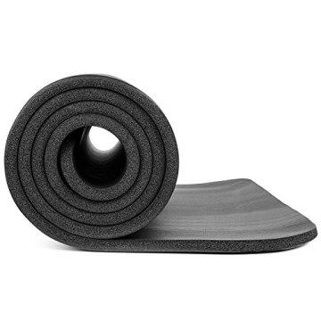 Rutschfeste Yogamatte von KG | PHYSIO - 1 cm dicke Premium-Fitnessmatte fürs Fitnessstudio, Pilates oder zuhause mit Schultertragegurt (auf der Innenseite der Matte) 183 cm x 60 cm x 1 cm - 4