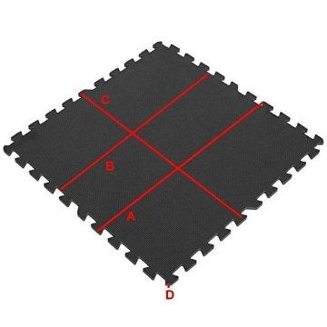 Schutzmatten-Set – GORILLA SPORTS 8 Puzzle-/Sport-Matten 60 x 60 cm, Bodenschutz in Schwarz - 4