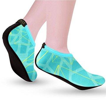 SITAILE Sommer Aqua Schuhe Barfuß Weich Wassersport Yoga Schuhe Strandschuhe Schwimmschuhe Surfschuhe für Damen Herren,Grün,XL,EU40-42 - 4