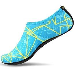 SITAILE Sommer Aqua Schuhe Barfuß Weich Wassersport Yoga Schuhe Strandschuhe Schwimmschuhe Surfschuhe für Damen Herren,Grün,XL,EU40-42 - 1