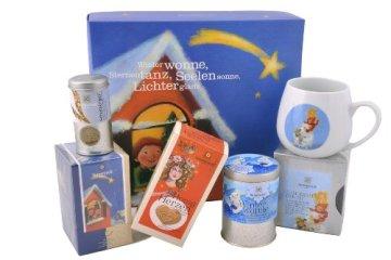 Sonnentor Leise rieselt der Tee-Weihnachtlicher Geschenkkarton, 1er Pack (1 x 232 g) – Bio -