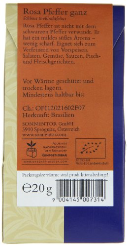Sonnentor Pfeffer rosa ganz, 1er Pack (1 x 20 g) - Bio - 2