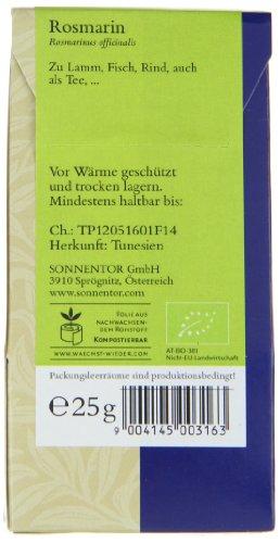 Sonnentor Rosmarin, 1er Pack (1 x 25 g) - Bio - 3
