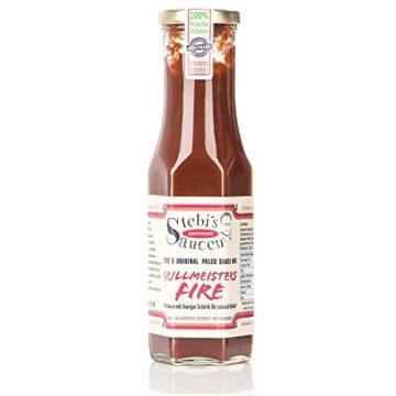 Stebi`s Paleo Sauce No.6 – BBQ Chili Sauce – Grillmeisters Fire (100 % Natürlich) -