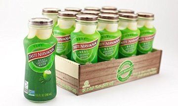 TASTE NIRVANA Real Coconut Water PURE - Premium Kokoswasser ohne Fruchtfleisch (Set: 12 Flaschen x 280ml) aus Thailands erntefrischen jungen Nam Hom Kokosnüssen - 1