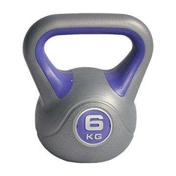 TrainHard Gymnastik Kettlebell Kugelhantel Vinyl Handgewicht 2 bis 20 KG - 6KG lila - 2