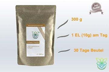 VITARAGNA Collagen Peptide Protein Pulver, 100% reines Kollagen Hydrolysat, Lift Drink, 300 g hydrolysiertes Kollagen ohne Zusätze, Gut für das Bindegewebe - 5