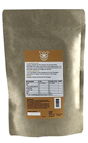 VITARAGNA Collagen Peptide Protein Pulver, 100% reines Kollagen Hydrolysat, Lift Drink, 300 g hydrolysiertes Kollagen ohne Zusätze, Gut für das Bindegewebe - 6