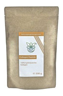 VITARAGNA Collagen Peptide Protein Pulver, 100% reines Kollagen Hydrolysat, Lift Drink, 300 g hydrolysiertes Kollagen ohne Zusätze, Gut für das Bindegewebe - 1