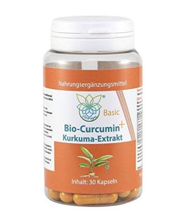 VITARAGNA Curcumin Basic Plus, 30 Kurkuma Kapseln hochdosiert mit Kurkuma-Extrakt, BioPerine, Ingwer-Extrakt, Hochdosiertes Curcuma Bioperin (Schwarzer-Pfeffer), starkes natürliches Antioxidans - 1