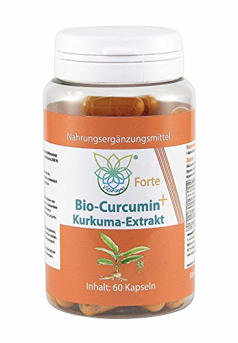 VITARAGNA Curcumin Forte, 60 Kurkuma Kapseln hochdosiert mit Kurkuma-Extrakt, BioPerine, Ingwer-Extrakt, Hochdosiertes Curcuma Bioperin (Schwarzer-Pfeffer), starkes natürliches Antioxidans - 1