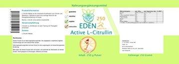 VITARAGNA Eden Active L-Citrullin Malate Plus 250 Pulver, Pure Kraft, Ausdauer & Muskel-Regeneration & Pump Aufbau für Mann & Frau, Arginin Booster, hochdosiert, vegan - 2