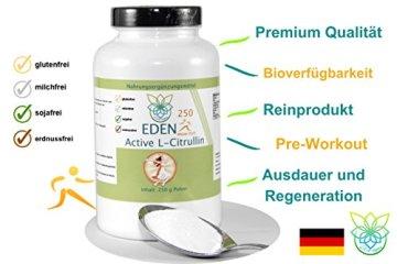 VITARAGNA Eden Active L-Citrullin Malate Plus 250 Pulver, Pure Kraft, Ausdauer & Muskel-Regeneration & Pump Aufbau für Mann & Frau, Arginin Booster, hochdosiert, vegan - 3