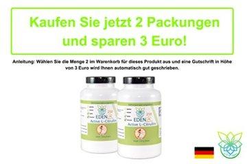 VITARAGNA Eden Active L-Citrullin Malate Plus 250 Pulver, Pure Kraft, Ausdauer & Muskel-Regeneration & Pump Aufbau für Mann & Frau, Arginin Booster, hochdosiert, vegan - 5