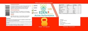 VITARAGNA Eden Active Performance Pre-Workout-Booster 120 Kapseln, Trainingsbooster, Fitness, Muskelaufbau, Pump, Kraftsteigerung, ohne Koffein, clean, geschmacklos, hochdosiert - 2