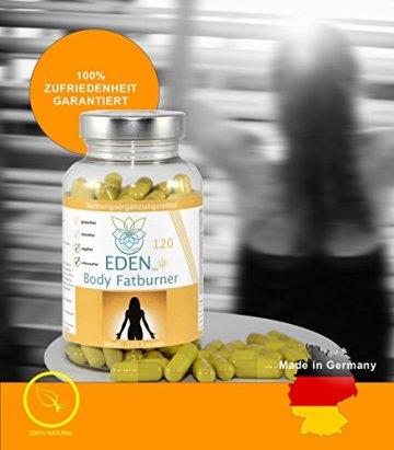 VITARAGNA Eden Body Fatburner Day 120 Kapseln, Fettverbrenner Diät Pillen bzw Abnehm-Pillen, Unterstützung zum natürlich abnehmen, auch bei Bauchfett - 4