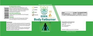 VITARAGNA Eden Body Fatburner Grüner Kaffee Extrakt 60 Kapseln, 500 mg, 50% Chlorogensäure, Green-Coffee Fettverbrenner Diät-Pillen, Abnehm-Pillen zum natürlich abnehmen auch bei Bauchfett - 2