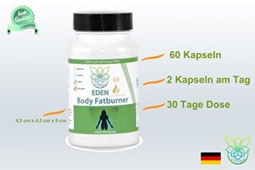 VITARAGNA Eden Body Fatburner Grüner Kaffee Extrakt 60 Kapseln, 500 mg, 50% Chlorogensäure, Green-Coffee Fettverbrenner Diät-Pillen, Abnehm-Pillen zum natürlich abnehmen auch bei Bauchfett - 4