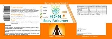 VITARAGNA Eden Body Fatburner L-Carnitin 100 Kapseln, Fettverbrenner, Diät-Pillen bzw Abnehm-Pillen zum Sport ohne Koffein, mehr Kraft und Ausdauer, hochdosiert - 2