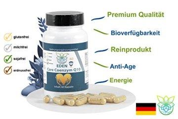 VITARAGNA Eden Care Coenzym-Q10 Plus 60 Kapseln, hohe Wirkkraft durch 100 mg Co-Q10, Vitamin-C und Vitamin-E, Q10 hochdosiertes Antioxidans für Anti-Age, glutenfrei - 3